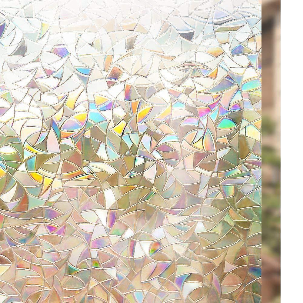 Rabbitgoo Vinilo Ventana Vinilo Cristal Libre de Adhesivo Vinilo Translucido Película de La Ventana 3D Laminas