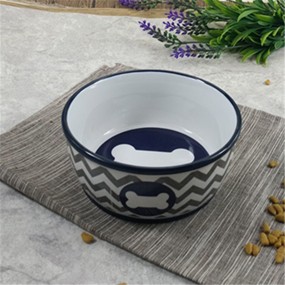 WU-pet supplies Pet Bowl Ceramic Dog Bowl cat Bowl Dog Bowl cat Bowl Cooking pots of Cats and Dogs and Cats Commodities-Rice Bowls Bowl 8