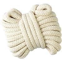 Gouert Cordón de algodón 10mm Cuerda Trenzada Cuerda