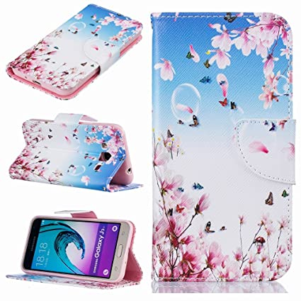 Yiizy Samsung Galaxy J3 (2016) J320 Funda, Flores Floración ...