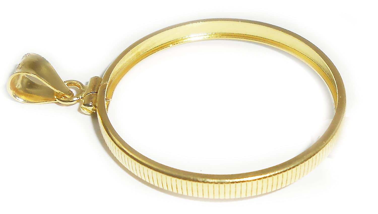 14k Gold Filled 1 oz Philharmonic Coin Edge Coin Bezel Frame Mount 37mm x 2mm