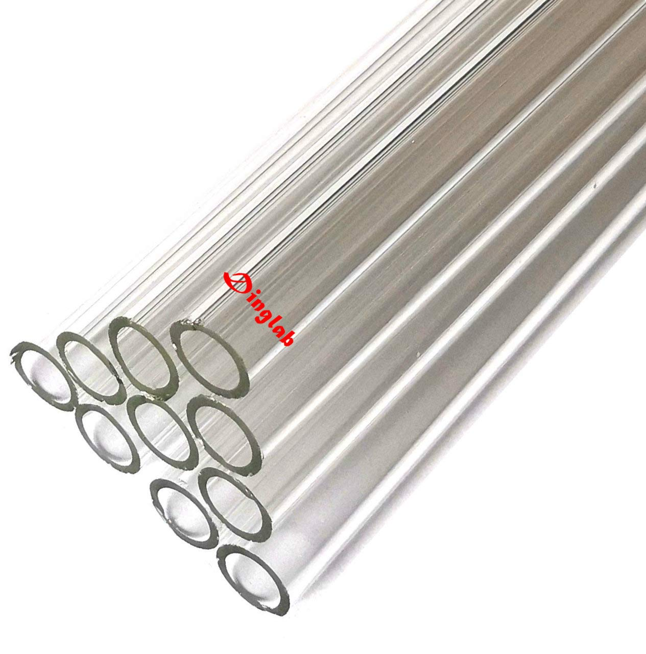 Dinglab 300mm,Blowing Glass Tube,OD 9mm,1.5mm Thcik,Made Form Borosilicate,10Pcs/Lot by dinglab