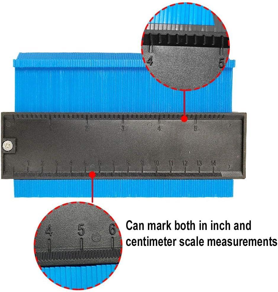 10inch, Blue Copia duplicatore di forma omnigauge Copia precisa della forma irregolare Calibro di duplicazione dei contorni Misura della forma dello strumento di copia del profilo