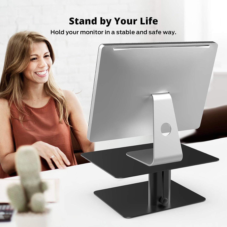 compatibile con TV Supporto per monitor in metallo supporto da scrivania regolabile in altezza BoYata laptop iMac e tutti gli schermi computer PC