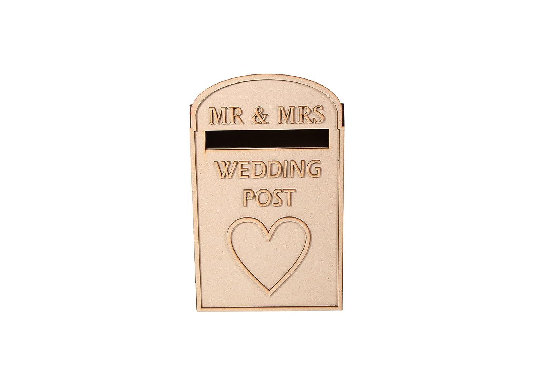 laserSmith Large Wedding Card Post Box - Royal Mail Styled