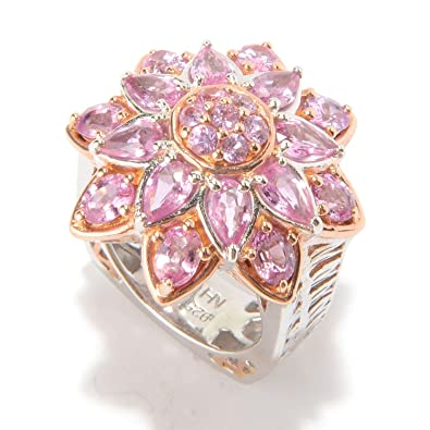 Amazon michael valitutti palladium silver multi shape pink michael valitutti palladium silver multi shape pink sapphire flower ring mightylinksfo