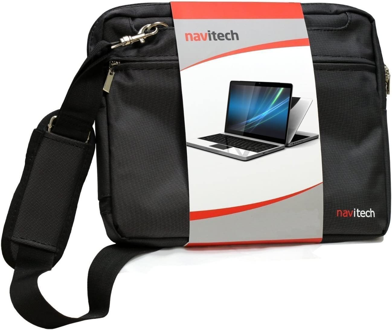 Navitech Black Sleek Premium Water Resistant Shock Absorbent Carry Bag Case Compatible with The The Acer Travelmate P259 14 inch
