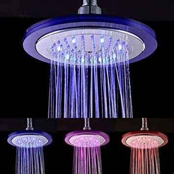 WYQN LED Shower Head Water Temperature Controlled Bathroom Spray 3 Color Of  LED Lights