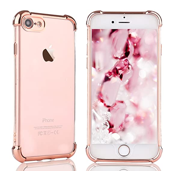 Amazon Com For Iphone 5s Se Case Llz Coque Color Metal Plating