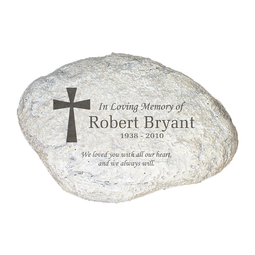 GiftsForYouNow Engraved Memorial Garden Stone, 11'' W, Durable, Waterproof, Outdoor/Indoor