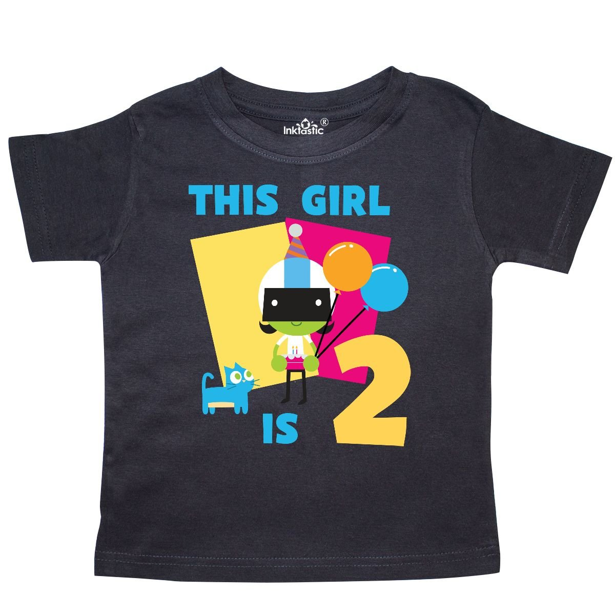 PBS Kids inktastic This Girl is 2 with Dee Toddler T-Shirt