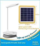 KK.BOL Solar Desk Lamp Three Levels Dimmable Led Table Lamp for Reading Bedside Light Night Light