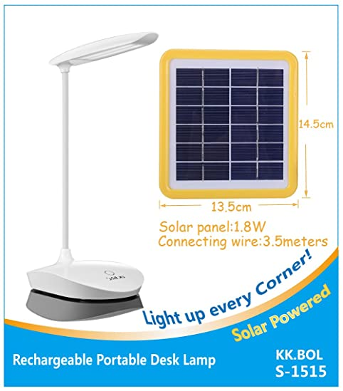 BOL Solar Desk Lamp Three Levels Dimmable Led Table Lamp For Reading  Bedside Light