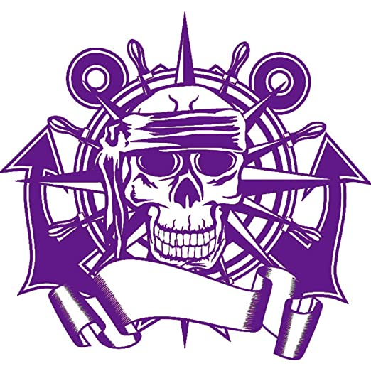 guijiumai Dctal Skull Rudder Compass Sticker Punk Death Decal Horror Halloween Devil Poster Car Window Art Wall Decals Decor Mural 2 58x61cm: Amazon.es: Hogar