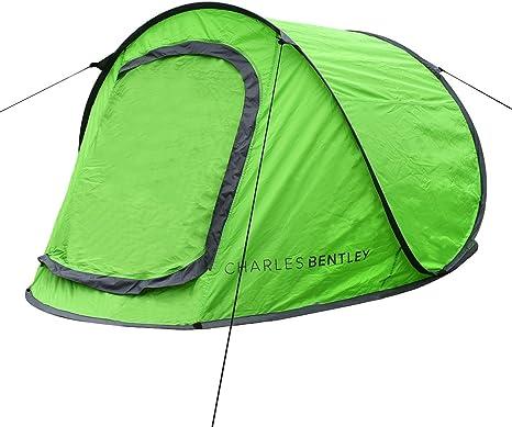 Charles Bentley Acampar de 2 Personas Surge la Tienda Instantánea en Verde Guía con la s Clavijas de Tierra Cuerdas: Amazon.es: Deportes y aire libre