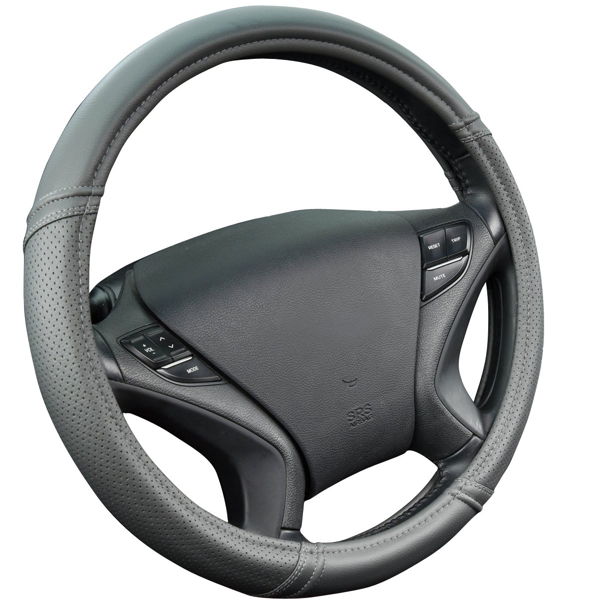 New Arrival- Car Pass Classical PULeather Automotive Universal Steering Wheel Covers (Full brown color)