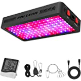 Phlizon Newest 1200W LED Plant Grow Light,with Thermometer Humidity Monitor,with Adjustable Rope,Full Spectrum Double…