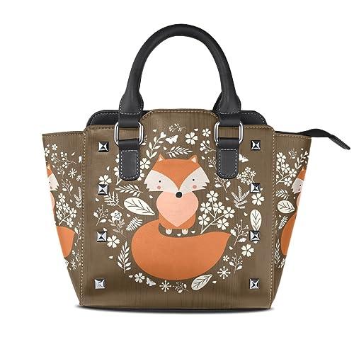 Amazon.com: Para mujer de zorro durmiendo arte bolsos de ...