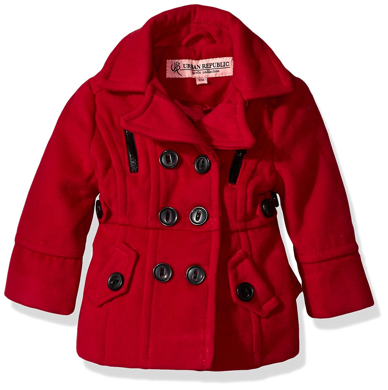 Urban Republic Baby Girls Ur Wool Jacket Coat