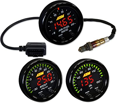 GENUINE AEM X-Series Boost Pressure Gauge 30-0306 30inHg~35psi