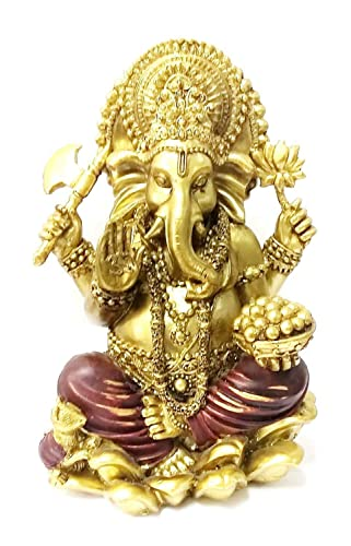 Bellaa 20964 Ganesh Statues Hindu Ganapathi Good Luck God 7 Inch