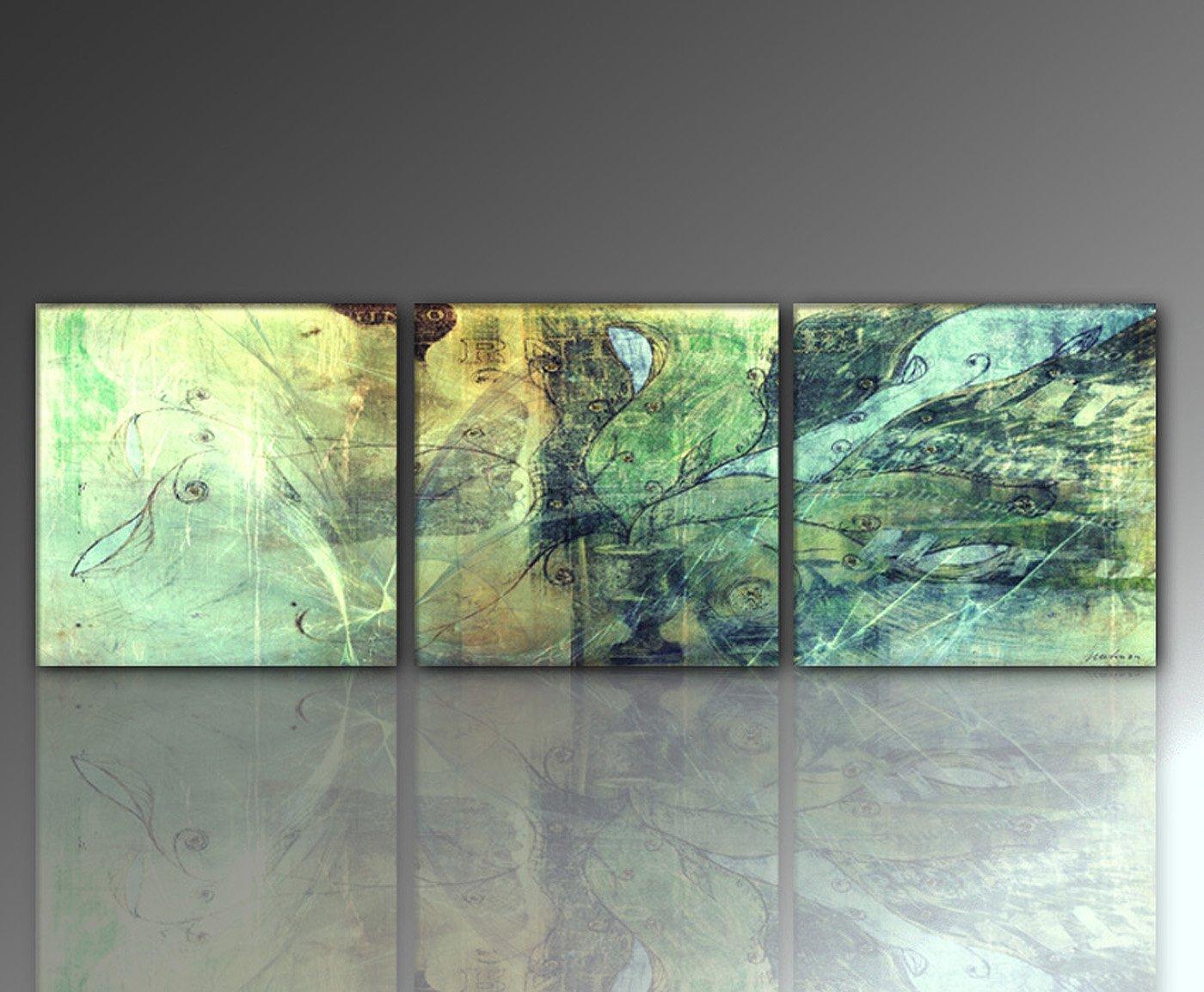 TOP PREIS Wandbild 3 BILDER insgesamt 150x50 cm (unio-3teilig ...