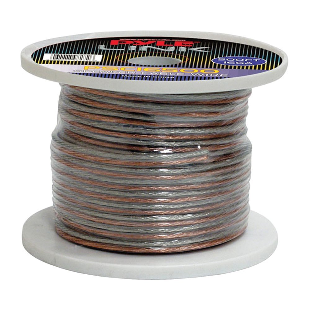 Pyle PSC18500 18-Gauge 500-Feet Spool of Speaker Zip Wire Sound Around