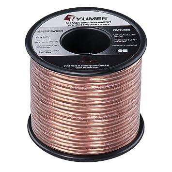 Amazon.com: TYUMEN 40 FT Speaker Wire - 2 Conductors 18 Gauge ...