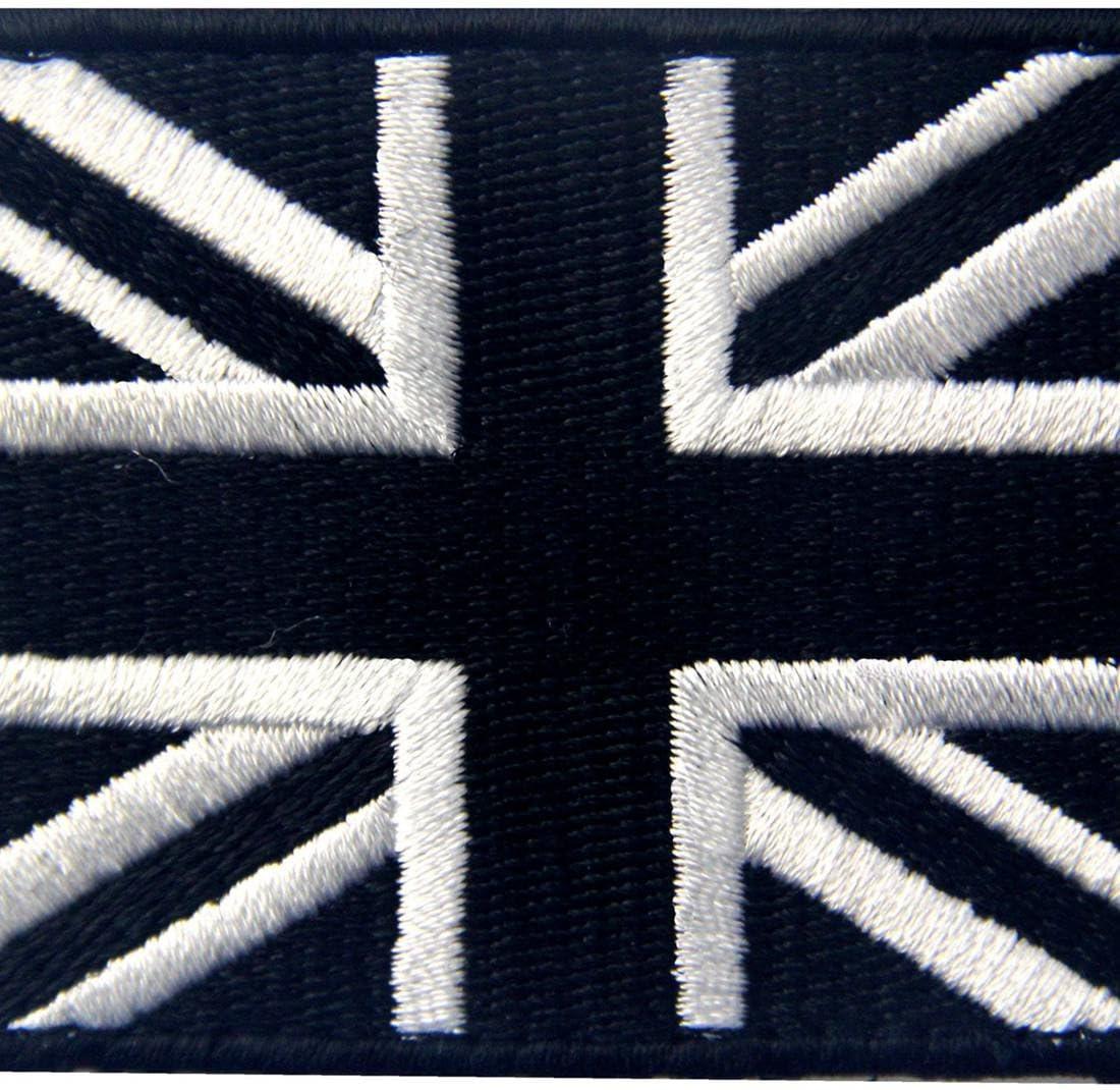 Táctico Gran Bretaña Bandera de Union Jack emblema Broche Bordado de Gancho y Parche de Gancho y bucle de cierre: Amazon.es: Hogar