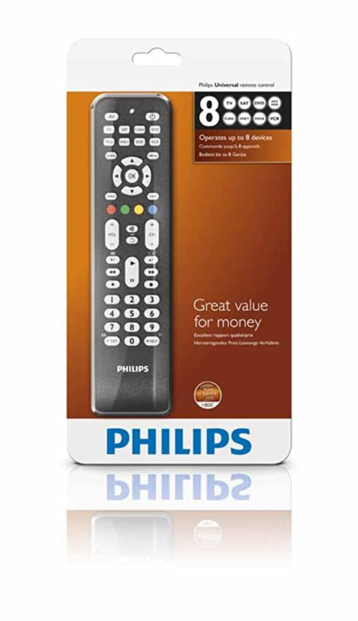 Efterstræbte Philips SRP 2008 8-in-1 Universal-Fernbedienung: Amazon.de: Elektronik AE-73