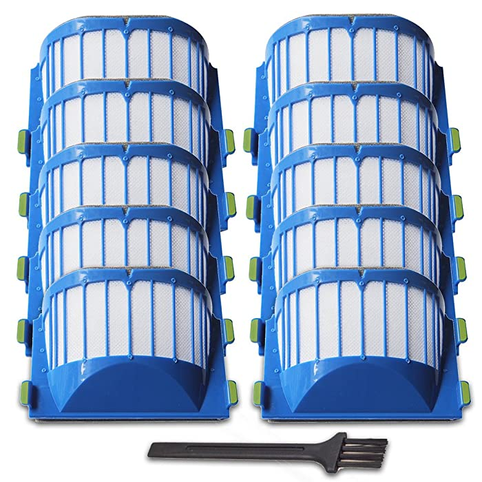 VacuumPal Replacement Parts 10 x Aero Vac Filters Kit for iRobot Roomba 500 600 Series 536 550 551 614 620 630 650 655 660 665 680 690 Vacuum Cleaner Accessory