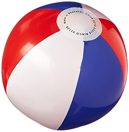 amazon com red white and blue beachball pack of 12 toys games