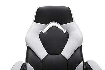 Essentials Racing Style Silla de Piel para Juegos, ergonómica, giratoria, para Ordenador, Oficina o Silla de Juegos, Gris (ES-3085-GRY): Amazon.es: Juguetes ...