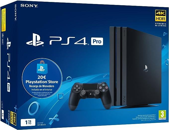 Playstation 4 Pro (PS4) - Consola de 1TB + 20 euros Tarjeta Prepago (Edición Exclusiva Amazon): Amazon.es: Videojuegos