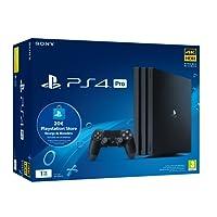 Playstation 4 Pro (PS4) - Consola de 1TB + 20 euros Tarjeta Prepago (Edición Exclusiva Amazon)