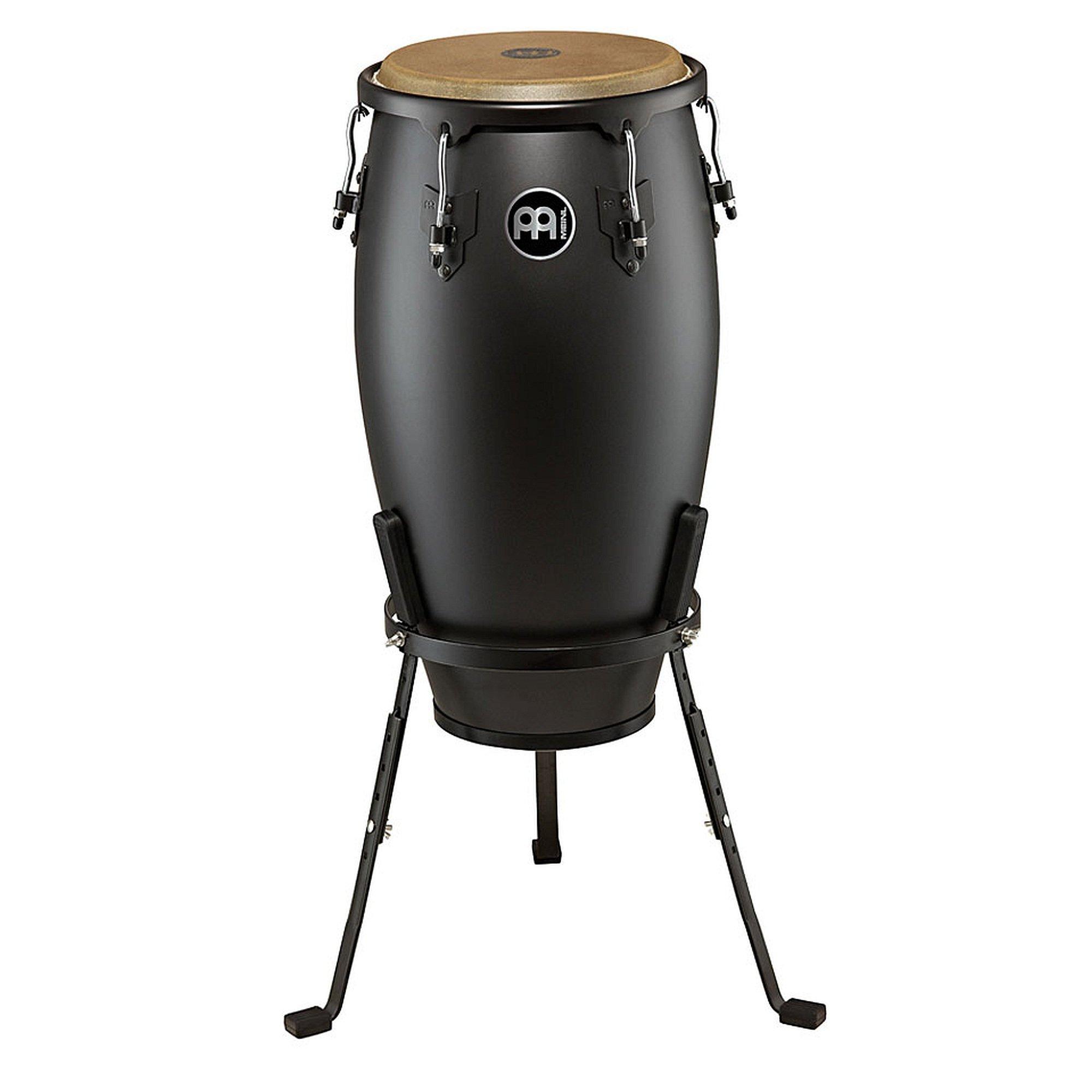 Meinl Percussion HC12PBK-M Headliner Designer Series 12-Inch Conga with Basket Stand, Phantom Black