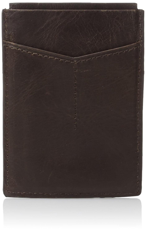 Fossil mens standard Rfid Card Case Wallet Dark Brown One Size Fossil Men's Accessories ML3812201