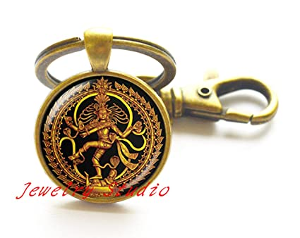 Encantador moda llavero golden Buda budista de cristal ...
