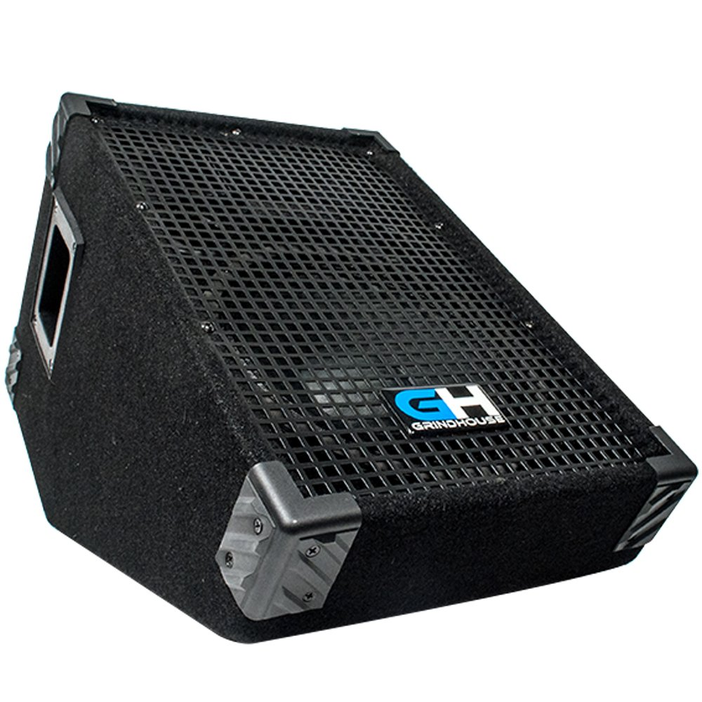 Grindhouse Speakers - GH10M - 10 Inch Passive Wedge Floor / Stage Monitor  300 Watts RMS - PA/DJ Stage, Studio, Live Sound 10 Inch Monitor by Grindhouse Speakers
