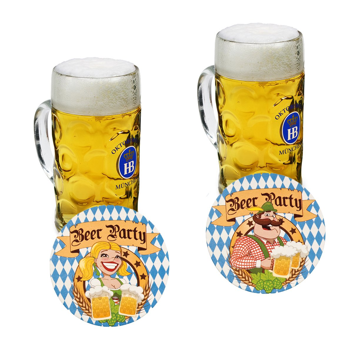 10x BEER MATS OKTOBERFEST BAVARIA GERMAN BEER FESTIVAL DECORATION BEER PUB PARTY BL