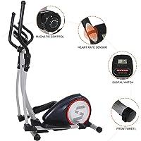 Bicicleta estática para el hogar, 2 en 1 elíptica, bicicleta estática con asiento, monitoreo digital, resistencia ajustable, hormiga
