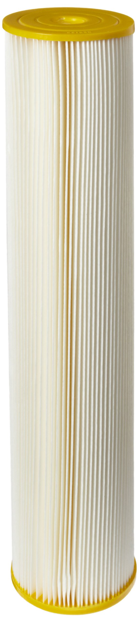 Pentek ECP50-20BB Pleated Cellulose Polyester Filter Cartridge, 20'' x 4-1/2'', 50 Microns by Pentek