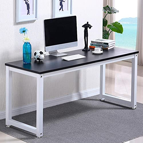 Popamazing Compact Corner Computer Desk PC Laptop Desktop Study Writing  Table Workstation For Home Office (