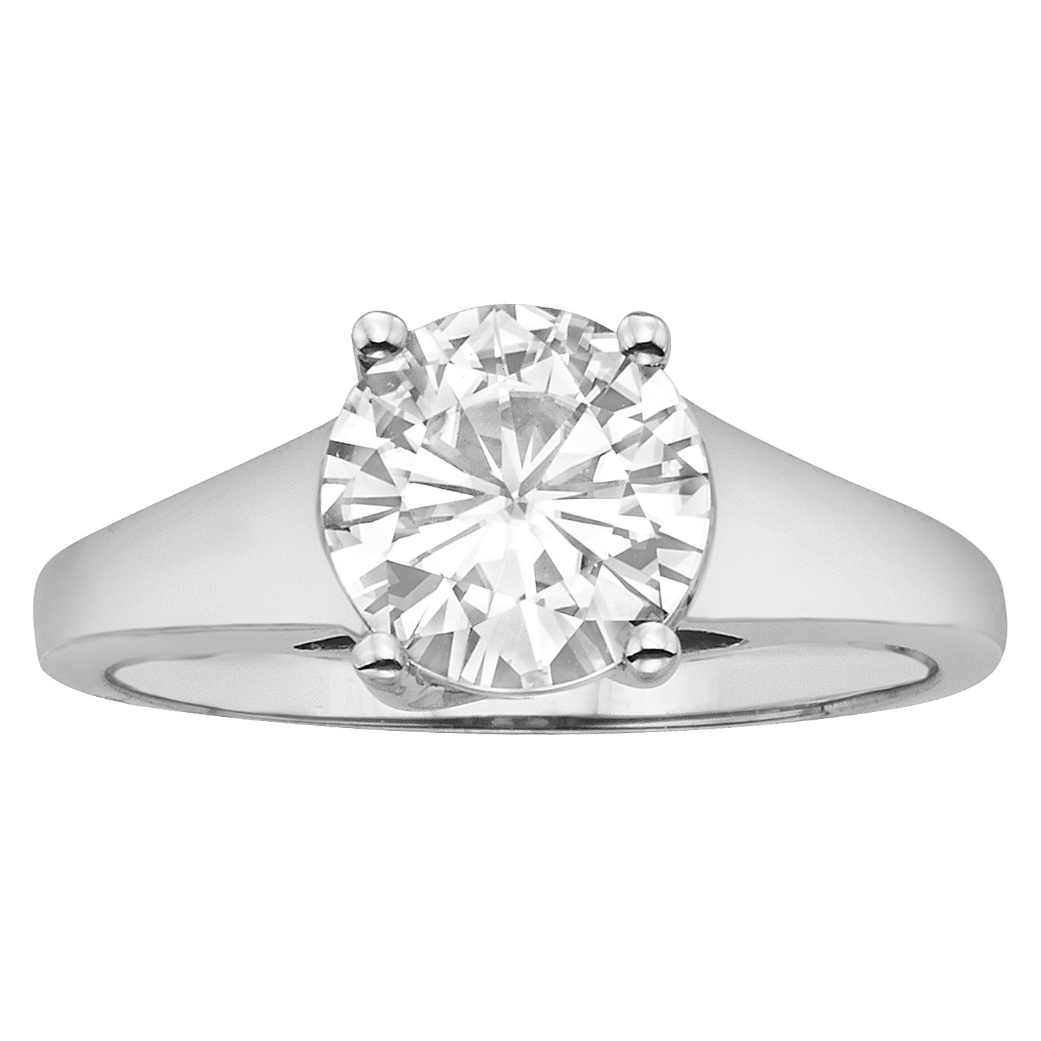 Forever Brilliant 8.0mm Moissanite Solitaire Engagement Ring - size 6, 1.90ct DEW By Charles & Colvard by Charles & Colvard