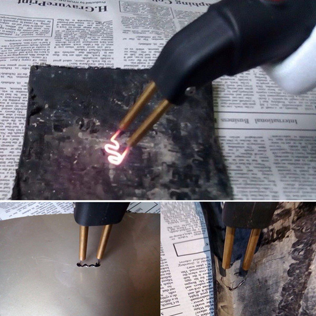 Seababyhouse Kit de Reparaci/ón de Parachoques de Pl/ástico de la Grapadora Caliente Carrocer/ía de la Defensa Arma de Soldadura Profesional de la M/áquina de Soldadura de la Reparaci/ón LED luz