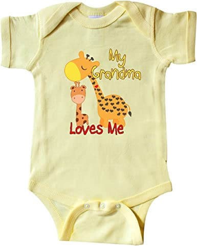 inktastic My Gran Loves Me Giraffe Toddler T-Shirt
