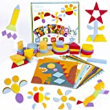 133 Pcs Wooden Pattern Blocks, 2-in-1 Montessori Educational Tangram Puzzle for Kids Ages 3+ with 12 Double-Sided Scene…