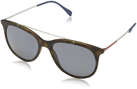 Prada Sport Herren Sonnenbrille 0PS56MS DG05W1, Schwarz (Black Rubber/Polargrey), 65