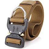 Tactical belt,Tactical Duty Belts Nylon Webbing, Mens HIGOD Military Style Utility Riggers Belt 1.5''