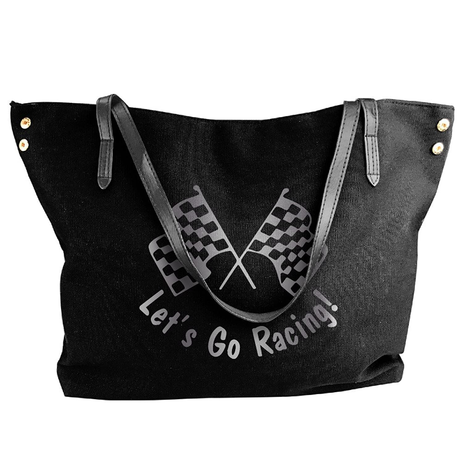 Let's Go Racing Checkered F Platinum Style Women Shoulder Bags